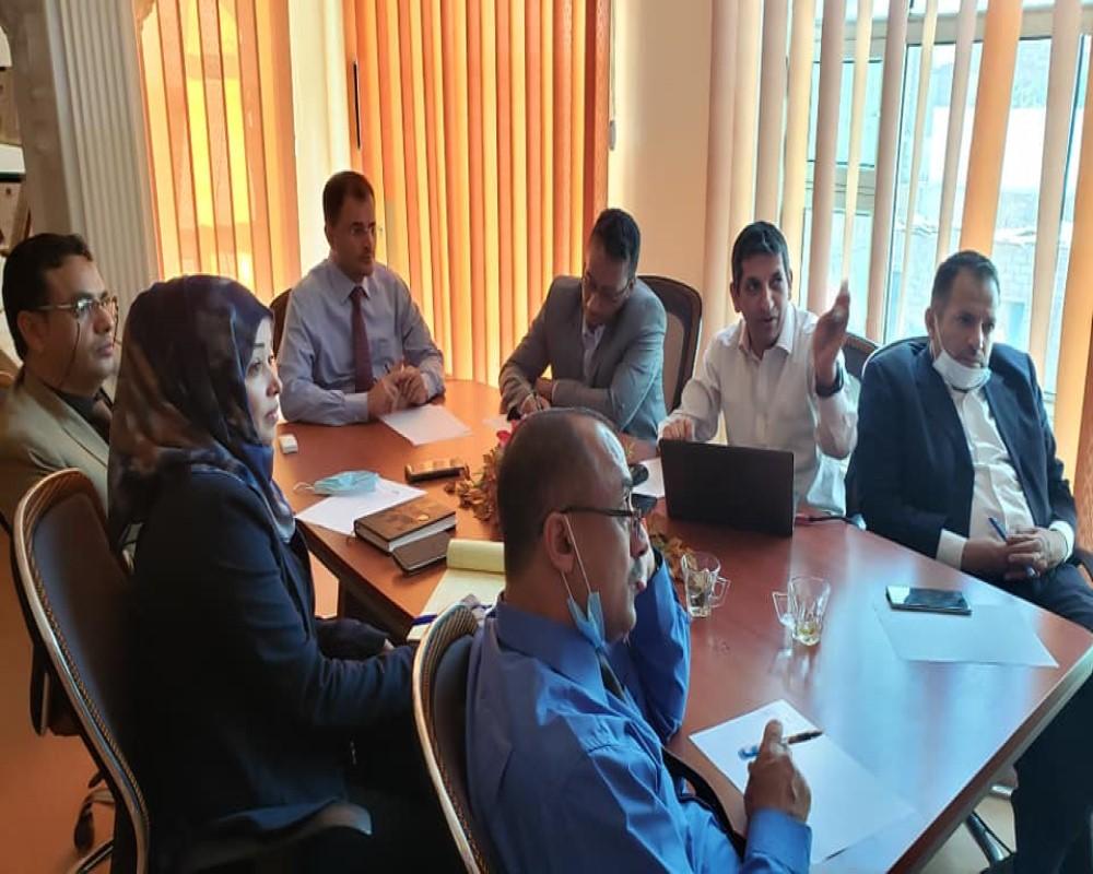 اجتماع قيادتي المركز ومجلس الاعتماد الأكاديمي لمناقشة نظام الترميز الأكاديمي